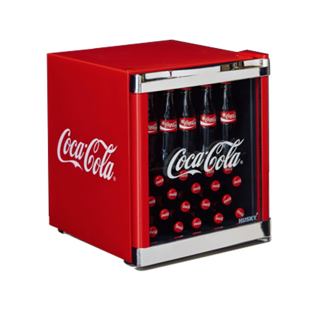 husky hus cc 165 flaschenk hlschrank coca cola a 51 cm h he 84 kwh jahr ebay. Black Bedroom Furniture Sets. Home Design Ideas