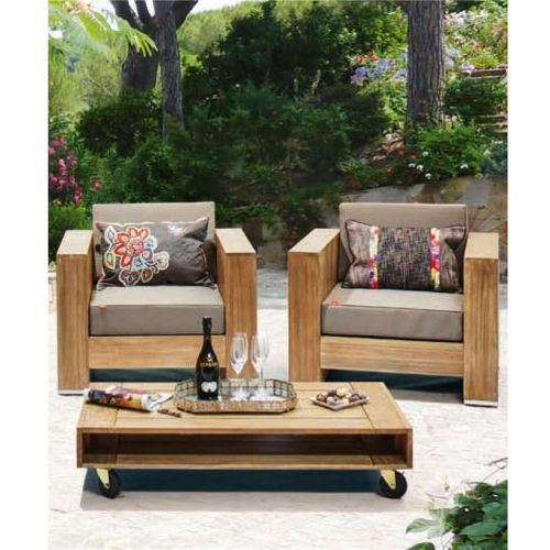 lounge set gartengarnitur gartenm bel halmstad m belset holz neu duisburg. Black Bedroom Furniture Sets. Home Design Ideas