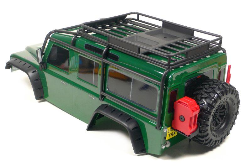 traxxas trx 4 land rover defender karosserie 1 10 gr n. Black Bedroom Furniture Sets. Home Design Ideas