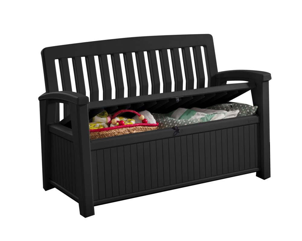 keter gartenbank patio b ware kissenbox auflagenbox. Black Bedroom Furniture Sets. Home Design Ideas