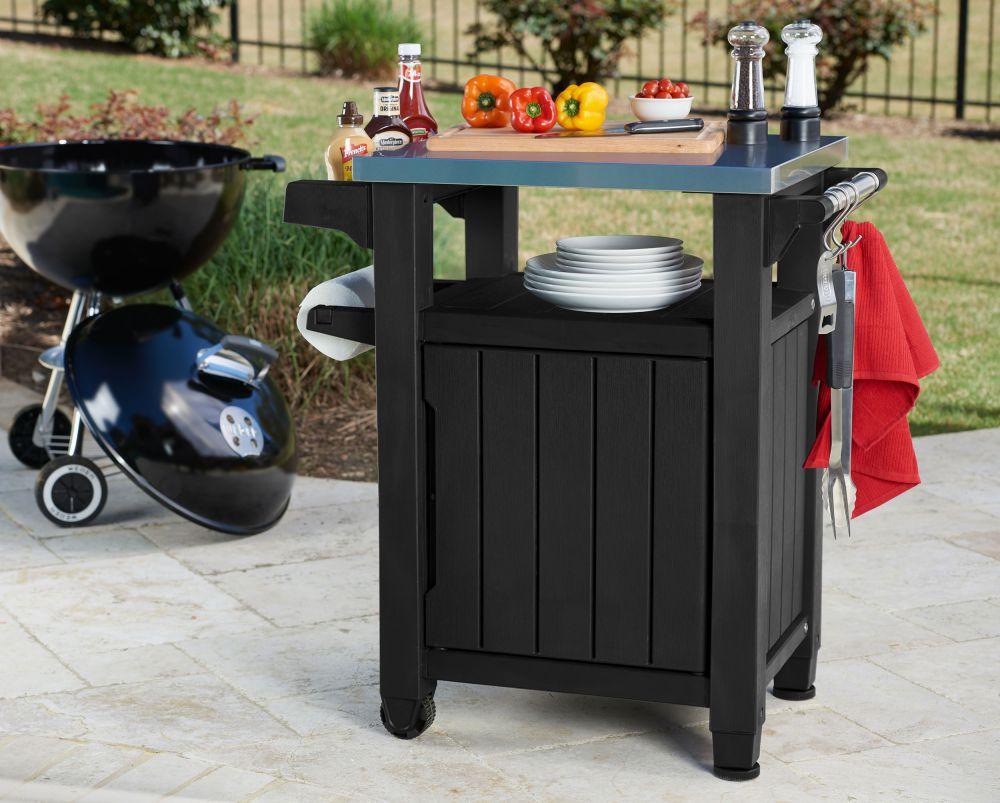 Mr bbq servicetisch servierwagen grilltisch beistelltisch for Beistelltisch lidl