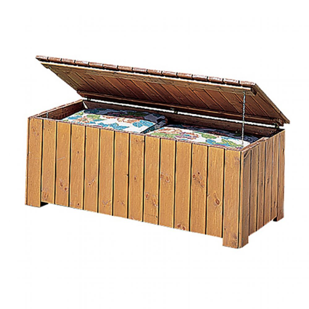 gaspo auflagenbox gartenbox kissenbox holzbox holzkiste gartentruhe f r auflagen ebay. Black Bedroom Furniture Sets. Home Design Ideas