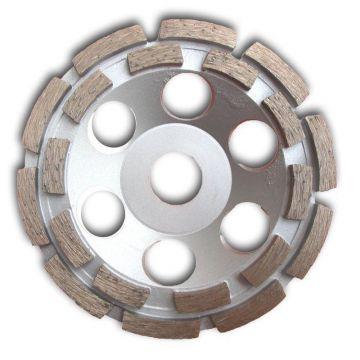2stk 125mm Diamantschleiftopf 2-fache Beton Granit Schleifteller Schleifscheibe