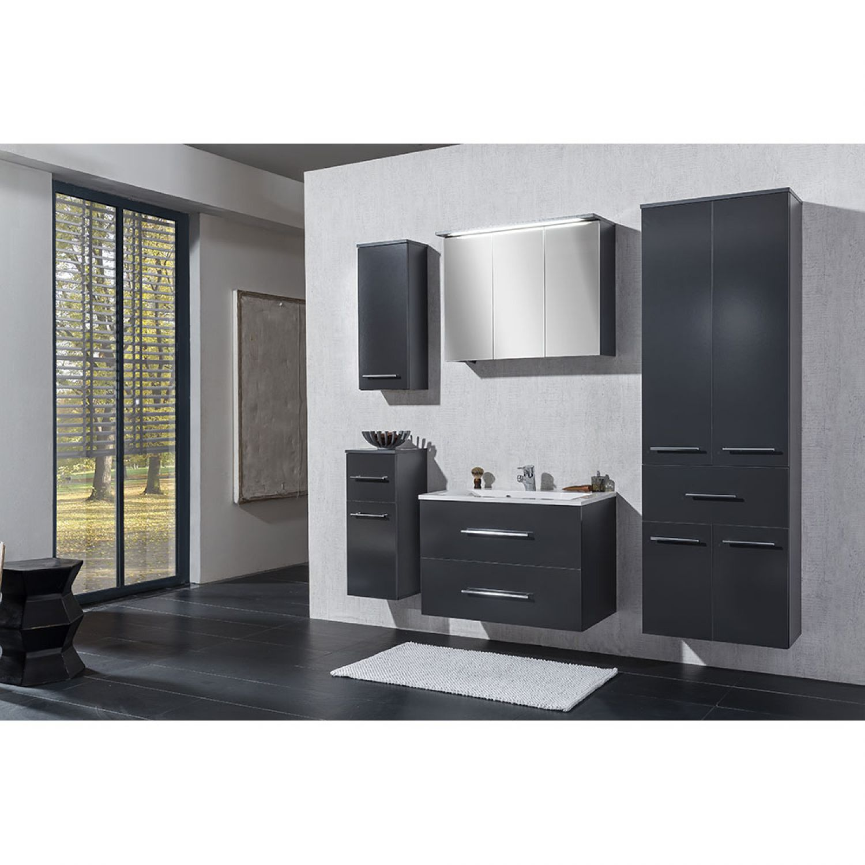 badezimmer unterschrank bad schrank badm bel standschrank anthrazit gl nzend ebay. Black Bedroom Furniture Sets. Home Design Ideas