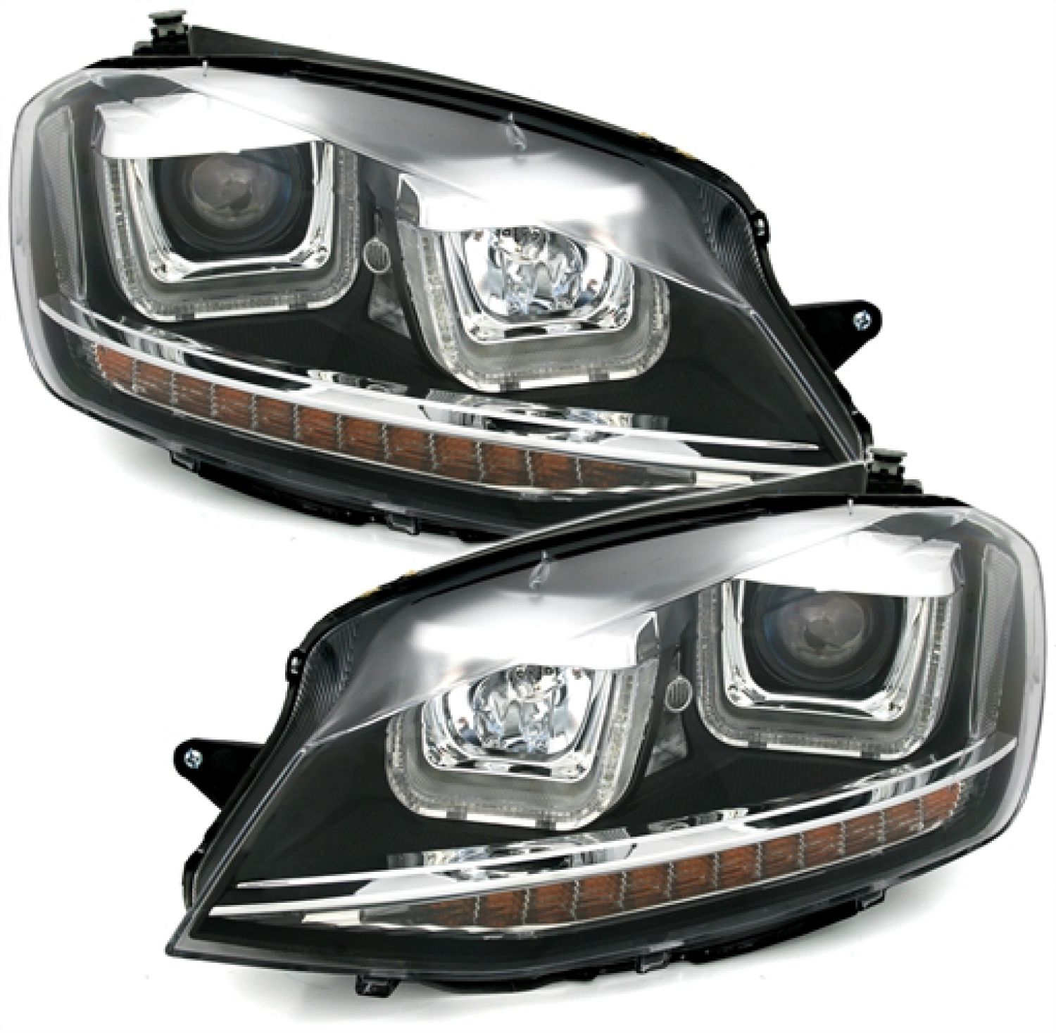 u tube scheinwerfer led tagfahrlicht blinker vw golf vii. Black Bedroom Furniture Sets. Home Design Ideas