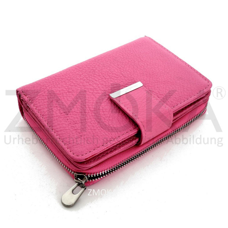 a5a698773a9d9 Jennifer Jones - Leder Damen Geldbörse Portemonnaie Geldbeutel Börse - Pink